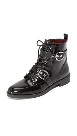 Marc Jacobs Taylor Double Strap Ankle Boots - Black