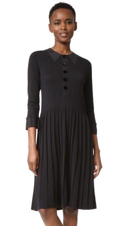 Marc Jacobs Trompe Loeil Sweater Dress - Black