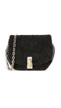Marc Jacobs West End Shearling Jane Saddle Bag - Black