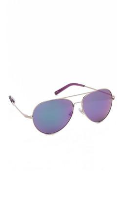Matthew Williamson Mirrored Aviator Sunglassess - Purple