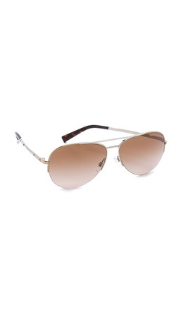 Michael Kors Gramercy Sunglasses - Gold Rose Gold/Brown Gradient