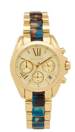 Michael Kors Mini Bradshaw Watch - Gold/Turquoise
