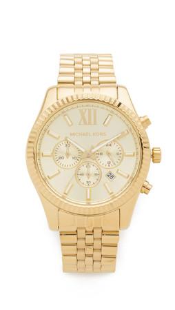Michael Kors Oversized Lexington Watch - Gold