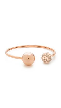 Michael Kors Pave Flexi Cuff Bracelet - Rose Gold/Clear