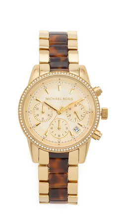 Michael Kors Ritz Watch - Gold/Tortoise