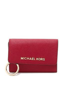 Michael Michael Kors Jet Set Coin Purse - Cherry