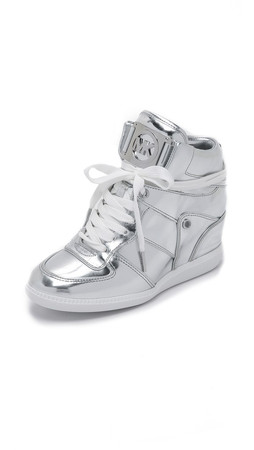 Michael Michael Kors Nikko High Top Sneakers - Silver