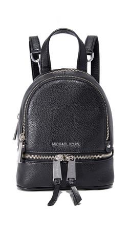 Michael Michael Kors Rhea Mini Backpack - Black