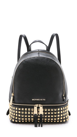 Michael Michael Kors Small Studded Backpack - Black