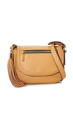Milly Astor Mini Saddle Bag - Caramel
