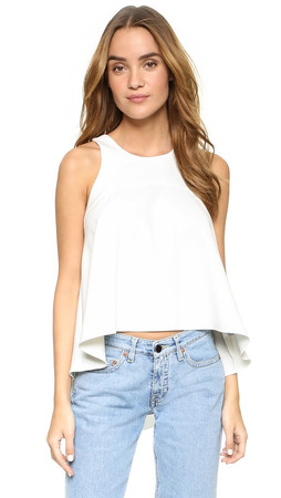 Milly Cady Trapeze Top - White