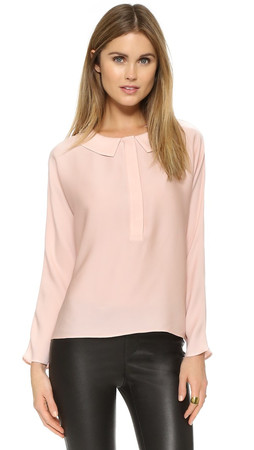 Milly Dolman Blouse - Blush