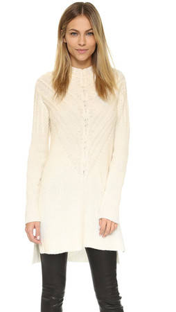 Milly Engineered Cable Tunic - White