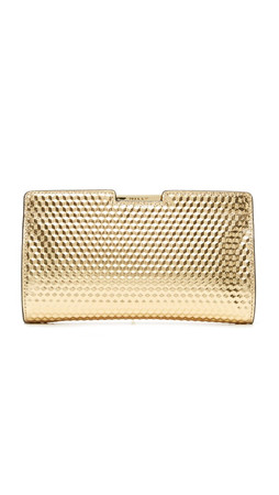 Milly Geo Small Frame Clutch - Gold