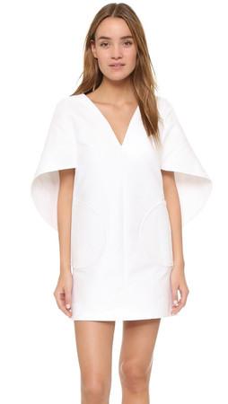 Milly Slim Beetle Dress - White