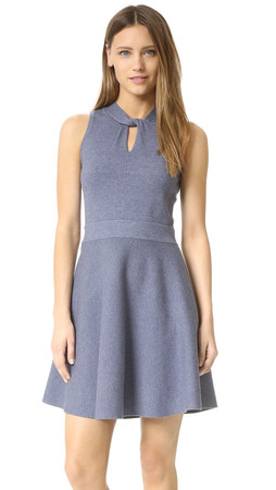 Milly Twist Flare Dress - Chambray