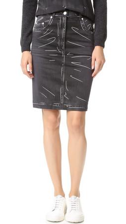 Moschino Denim Skirt - Black