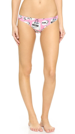 Moschino Printed Briefs - Pink Multi