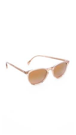 Oliver Peoples Eyewear Finley Esq. Sunglasses - Blush/Rose Quartz Mirror