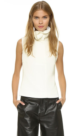 Opening Ceremony Funnel Neck Sleeveless Top - White