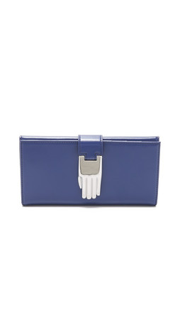 Opening Ceremony Misha Rectangular Wallet - Cobalt Blue