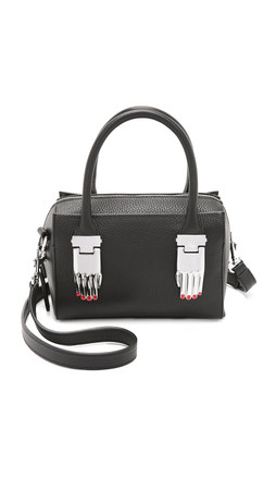 Opening Ceremony Pebble Leather Mini Lele Cross Body Bag - Black
