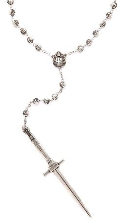 Pamela Love Dagger Rosary Necklace - Oxidized Silver