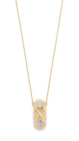 Pamela Love Infinite Pendant Necklace - Moonstone/Antique Gold