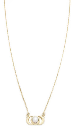 Pamela Love Luna Reveal Pendant Necklace - Gold/Pearl