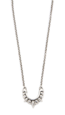 Pamela Love Small Tribal Spike Necklace - Antique Silver