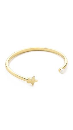 Pamela Love Star Age Cuff Bracelet - Gold/Pearl