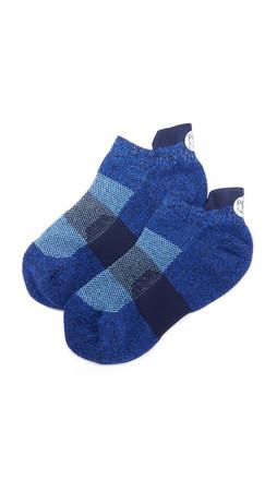 Pointe Studio Theia Athletic Grip Socks - Blue