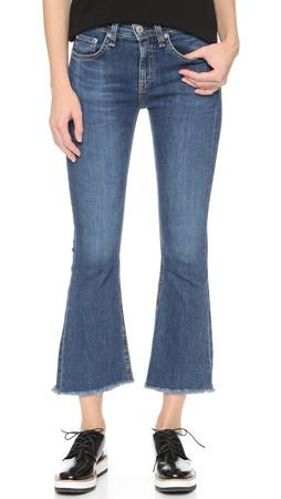 Rag & Bone/Jean Crop Flare Jeans - Paz