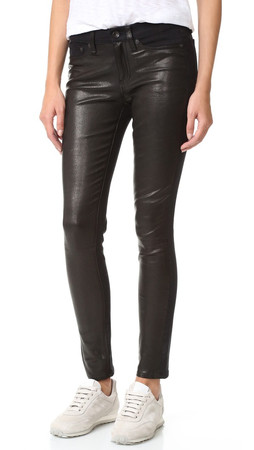 Rag & Bone/Jean Hyde Leather Pants - Coal