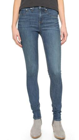 Rag & Bone/Jean The High Rise Skinny Jeans - Birch