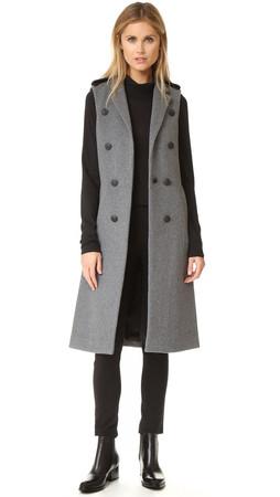 Rag & Bone Ashton Tailored Vest - Grey Heather