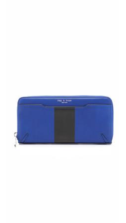 Rag & Bone Crosby Continental Wallet - Cobalt