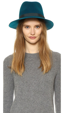 Rag & Bone Floppy Brim Fedora - Deep Teal