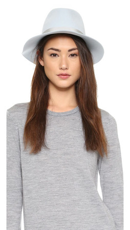 Rag & Bone Floppy Brim Fedora - Pale Blue