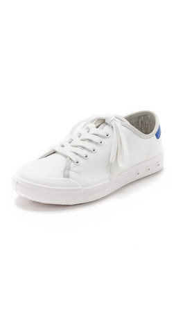Rag & Bone Standard Issue Lace Up Sneakers - White/Blue