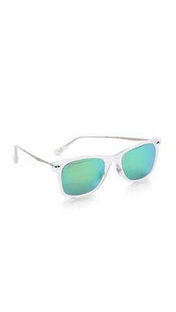 Ray-Ban Tech Light Sunglasses - Matte Transparent/Green Mirror