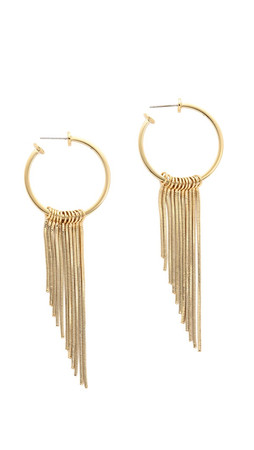 Rebecca Minkoff Fringe Hoop Earrings - Gold