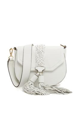 Rebecca Minkoff Isobel Saddle Bag - White