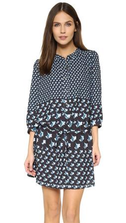 Rebecca Minkoff Laure Dress - Block Floral Multi