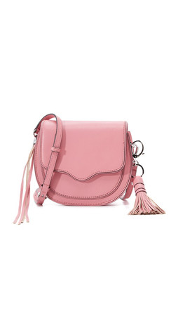 Rebecca Minkoff Mini Suki Saddle Bag - Guava