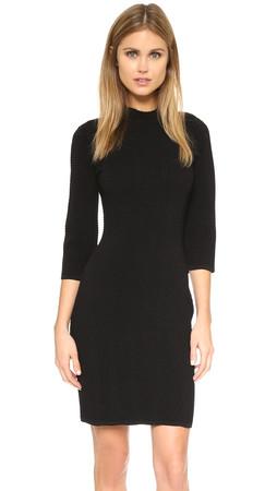Rebecca Minkoff Mosaic Mock Neck Dress - Black