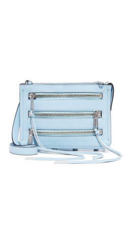 Rebecca Minkoff Moto 3 Zip Cross Body Bag - Sky
