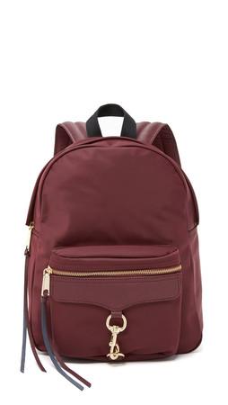 Rebecca Minkoff Nylon Mab Backpack - Burgundy