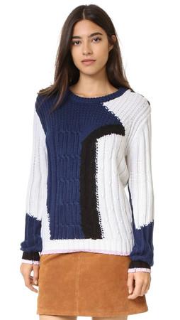 Rebecca Minkoff Prim Sweater - Navy Multi