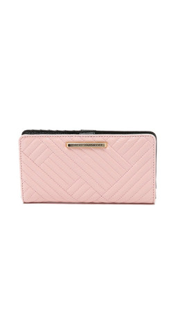 Rebecca Minkoff Quilted Sophie Snap Wallet - Baby Pink